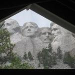 Mount Rushmore from the sculptor studio