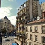 Looking outside our window towards Blvd du Montparnasse