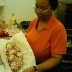Cinnamon Walnut danish made by Darlene, fresh out of the oven