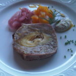 Pork and Artichoke Pâté with Pickled Red Onions and Brandied Apricots