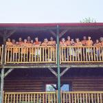 Family reunion, upper balcony in Ponderosa