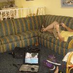 Huge sleeper sofa--thin mattress