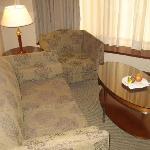 Sofa in TV room