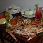 room service seafood platter