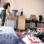Our messy room & my friend