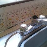 Mould kitchen sink-unrenovated and unclean