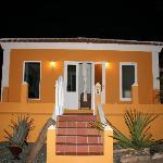 Yellow villa at night.  Carl Lambert - Virginia
