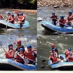 White water rafting in Borneo