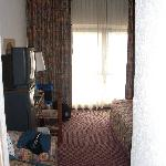 Room entrance, Big window brightens the room