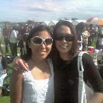 Mary and Rhona enjoying the sun.