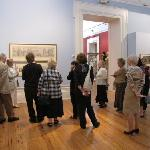 Enjoying looking at the fine art on display in the Harris Museum & Art Gallery