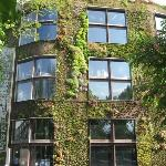 This building is totally covered in plants.  It's either part of or just next to Musée de Quai B