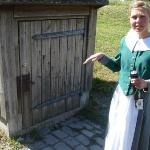 Our Norwegian tour guide lady, Anne, she took us into the recently discovered basement area wher