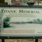 Southampton with the Titanic memorial.titanic left in 1912 from this port