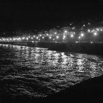 Playa de la Concha de noche ...