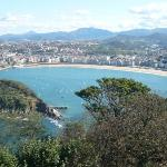 Playa de la Concha desde el Monte Igueldo ... y un día espectacular!!