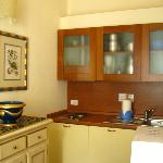 well-equipped kitchen - stove, fridge, coffeemaker, microwave, utensils,,,