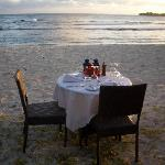 Table for two on the beach