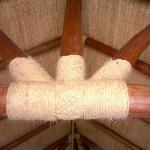 Detail of bedroom ceiling beams