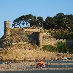 le château de Tossa à quelques minutes de l'hôtel