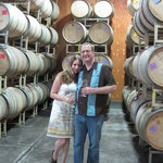 The barrel room at August Brigs