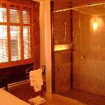 la douche multi-jets, vitrée