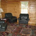 Living room area of cabin