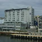 Kristiansund Rica Hotel seen from the ferry to Bremsnes