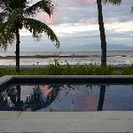 Shared villa pool