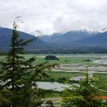 At Glacier gardens 580 ft level by golf carts to the top to see the Tongass national Forest and