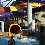 Slides in Pool Across Street