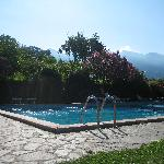 View on the swimming pool
