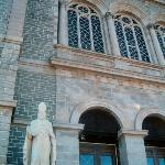 Basilica of St. John the Baptist; marble statue of Saint Francis of Assisi.  14 Mar. '09