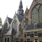 Oude Kerk in the middle of Red Lights District
