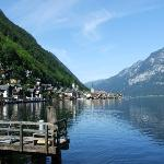 Hallstatt - Tha famous view of the City Hallstatt which is part of the World Heritage