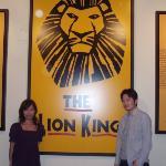 ベタですが、Lion King観ました! シンバがすっごくカッコイイ。。。。