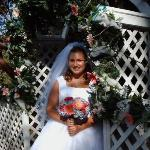 My wife at our wedding