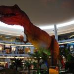 This life size T-Rex was in the lobby of the Aberdeen Mall in Richmond.