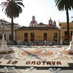 the town square in La Orotava for Corpus Christi