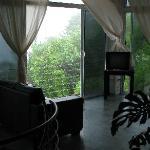 top floor on rainy day