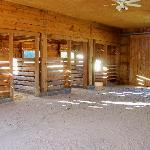 interior of the party barn during the day