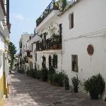 One of the lovely streets in old Marbella