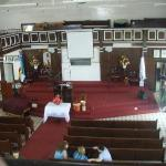 the inside of the first baptist church on the island