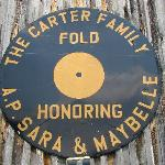 Sign on the side of the Carter Family Fold. It's actually a Texaco sign that's been painted over