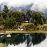 Em Bariloche, imagem do Lago Moreno, nos fundos do grande Hotel Llao Llao