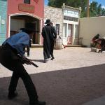 Shootout at the OK Corral reenactment in Tombstone, AZ