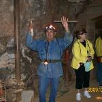 Underground, our tour gude shows us what miners used before augers and drills were invented. The
