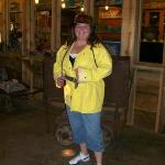 Me in my mining gear. It was 104 degrees on the surface (thus the red face!). It's 47 degrees in