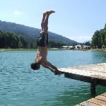 Fun at Lac Bleu - nearby Morillon