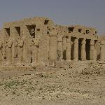 Main remains - starting with the Great Hipostyle Hall and the statues of Ramses II in front